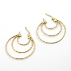 18 kt (750/1000) yellow gold - Earrings - Earring diameter: 31.06 mm