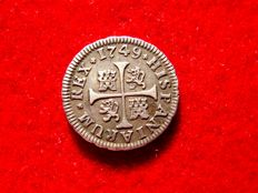Spain – Fernando VI (1746–1759) – 1/2 real silver coin –  Madrid, 1749