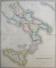 South Italy, Naples and Sicily; George Philip & Son - Naples & Sicily - 1853