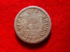 Spain – Carlos II (1759–1789) – 1 real silver coin –  Mexico, 1769