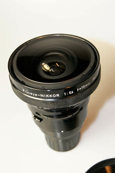 Nikkor Fisheye 1:5.6 f = 10 mm 180 degrees OP + Finder