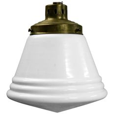 Unkown designer - Small Stepped Opaline Pendant Light