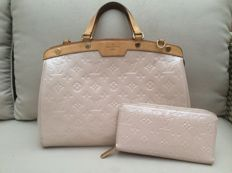 Louis Vuitton – Rose Angelique Monogram Vernis Brea MM Bag + Wallet