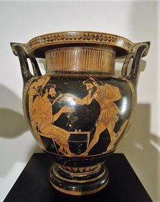 A Grand Tour period  Greek Attic style Column Krater (wine mixing vessel)