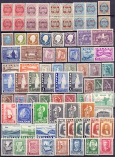 Iceland – various sets and separate stamps