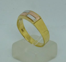 K14 yellow gold Men's ring - size:62,5