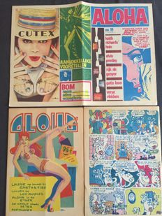 """Underground; Lot with 26 separate issues of """"Aloha"""" - 1972 / 1973"""