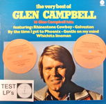 """Regardez Glen Campbell - Test LP-Trial Pressing, 5 Lp Albums and Book """"Country Music"""""""