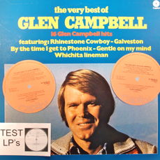 "Glen Campbell - Test LP-Trial Pressing, 5 Lp Albums and Book ""Country Music"""
