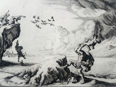 2 Prints by Johann Wilhelm Baur (Strasbourg, 31 May 1607 - Vienna, January 1640) - Myth from Ovid's Metamorphoses - 1639