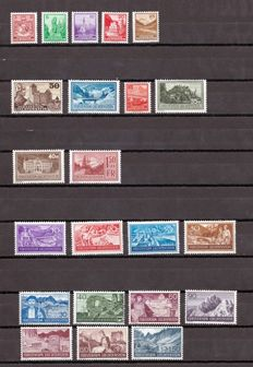 Liechtstenstein 1935/51 – Lot of stamps and complete series