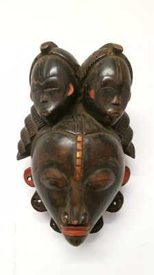 African facial mask - BAULE - Ivory Coast