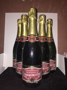 Champagne Charles Deloynes Tradition Brut x 6 bouteilles