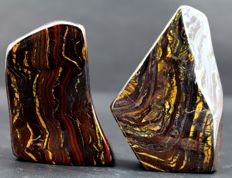 Top Grade Multi-coloured, highly polished Tiger's Eye - 755gm (2)