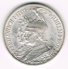 German Empire, Prussia - 2 Mark 1901 A 200 Years Kingdom of Prussia - silver