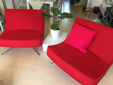 Christian Werner for Ligne Roset - set of 2 'Pop' lounge chairs