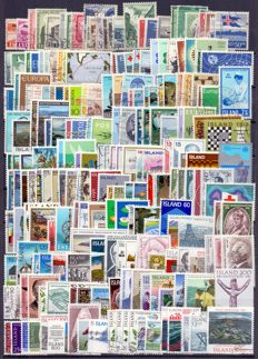 Iceland 1953/2000 - Collection of series and blocks