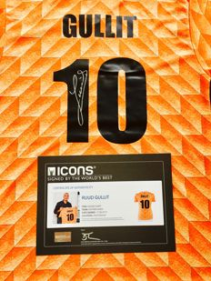 Ruud Gullit #11  /  Signed Jersey Uefa Euro 1988 Netherlands with Certificate of Authenticity & Photo Proof