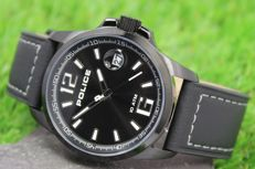 Police Men's Black Ion Plated Stainless Steel Watch New & Perfect Condition