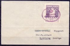 Greenland 1937 – Letter to Sweden with Facit P 17c