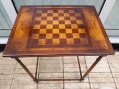 Beautiful inlaid chess (game) table
