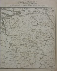 Holland, Belgium, Brabant; Neele - Abridged Map to eludicate the Campaigns of 1702, 1703 & 1705 - 1818