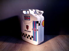 Jerrycan with logos of among others - Porsche - Martini - Shell- Metal / 20 litres