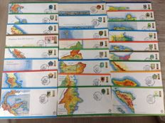 Indonesia and West Irian – Collection in album + First Day Covers