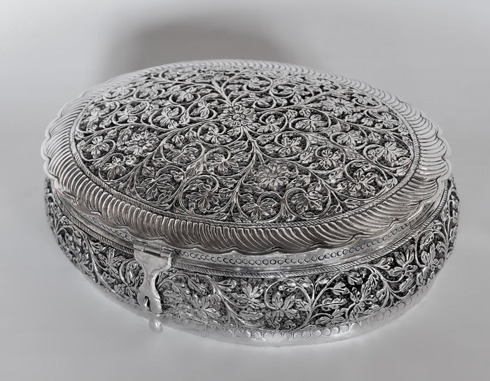Silver box/casket, Italy, 20th century