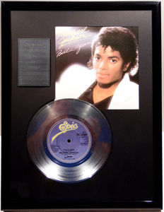 """Michael Jackson - Billie Jean - 7"""" Single Epic Records platinum plated record Special Edition"""