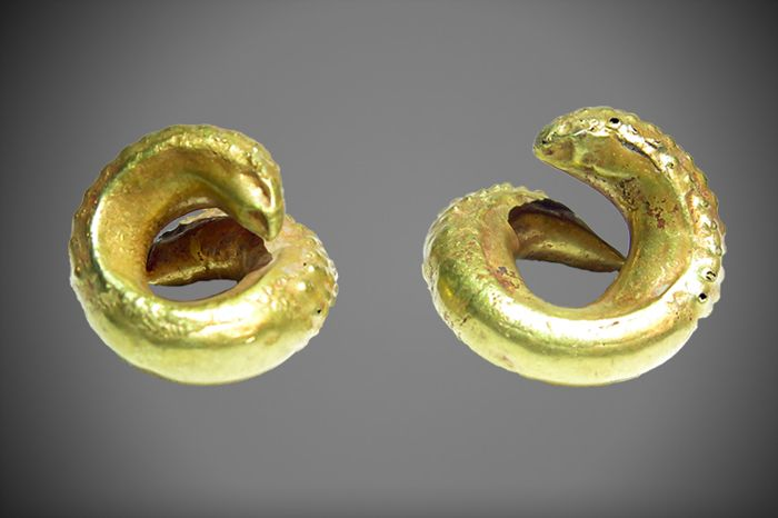Sumerian gold earrings - 25 mm