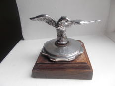 vintage    EAGLE CHROME ON BRASS  car mascot on vintage radiator cap  stunning detail  original heavy