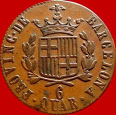 Spain – Ferdinand VII (1808–1833), 6 quarters, 1823. Barcelona.