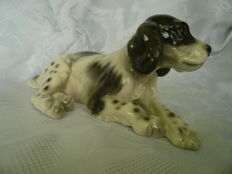 Dog Spaniel. KERAMOS Vienna Brand Porcelain, Artwork, Rarity