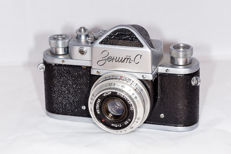 Zenit-C from 1957 made by Krasnogorsky Mekhanichesky Zavod (KMZ) of Moscow in the former USSR.