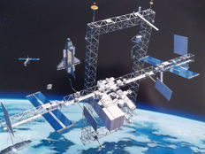 Boeing and Rockwell space stations