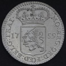 Utrecht – Mint master medal or ¼ guilder 1759 with cable edge – silver
