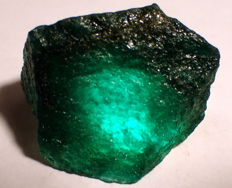 Natural rough Colombian emerald - 30,81 x 27,09 x 25,39mm - 23.5gm  - 117,20 cts