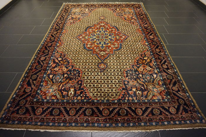 Vintage high-value  -Persian carpet- -Hamadan Bidjar -Made in Iran-  -192 x 300 cm-Very nice