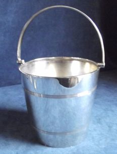 Silver plated Art Deco Ice Bucket c 1910