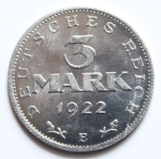 WR – 3 Mark 1922 E without inscription