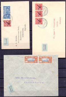 Iceland 1928/1930 - three airmail letters
