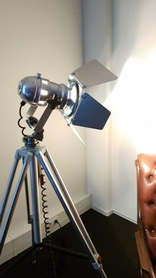 Luxury Industrial theatre lamp on extendable tripod