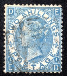 Great Britain 1867 - 2 Shilling Dull Blue - Stanley Gibbons 118