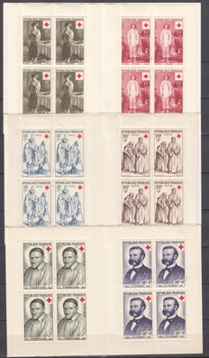 France, 1960/1998 – Lot of 44 Red Cross booklets