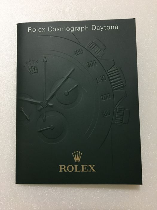 Rolex original '' Daytona 116520 '' instruction manual