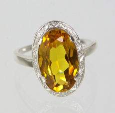 Ring, citrine around 1925