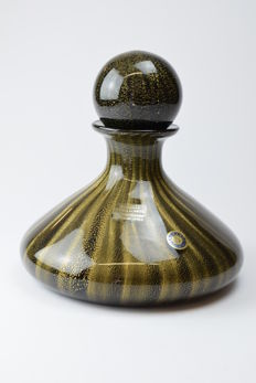"Paolo Rubelli (Rubelli glassworks) - collectable ""Gold"" series bottle (35 cm)"
