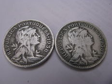 Portugal – Alpaca – 50 centavos – two coins – years – 1938