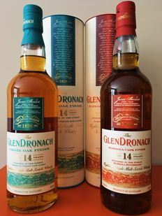 2 bottles - Glendronach 14 years old - Marsala & Virgin Oak finish